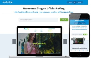 Marketing Landing Page Flat Responsive web template