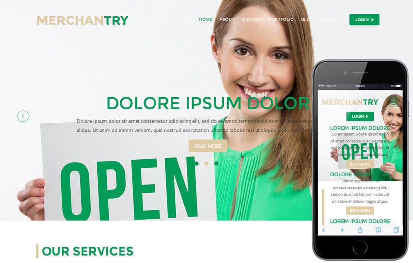 Merchantry a Corporate Flat Bootstrap Responsive Web Template