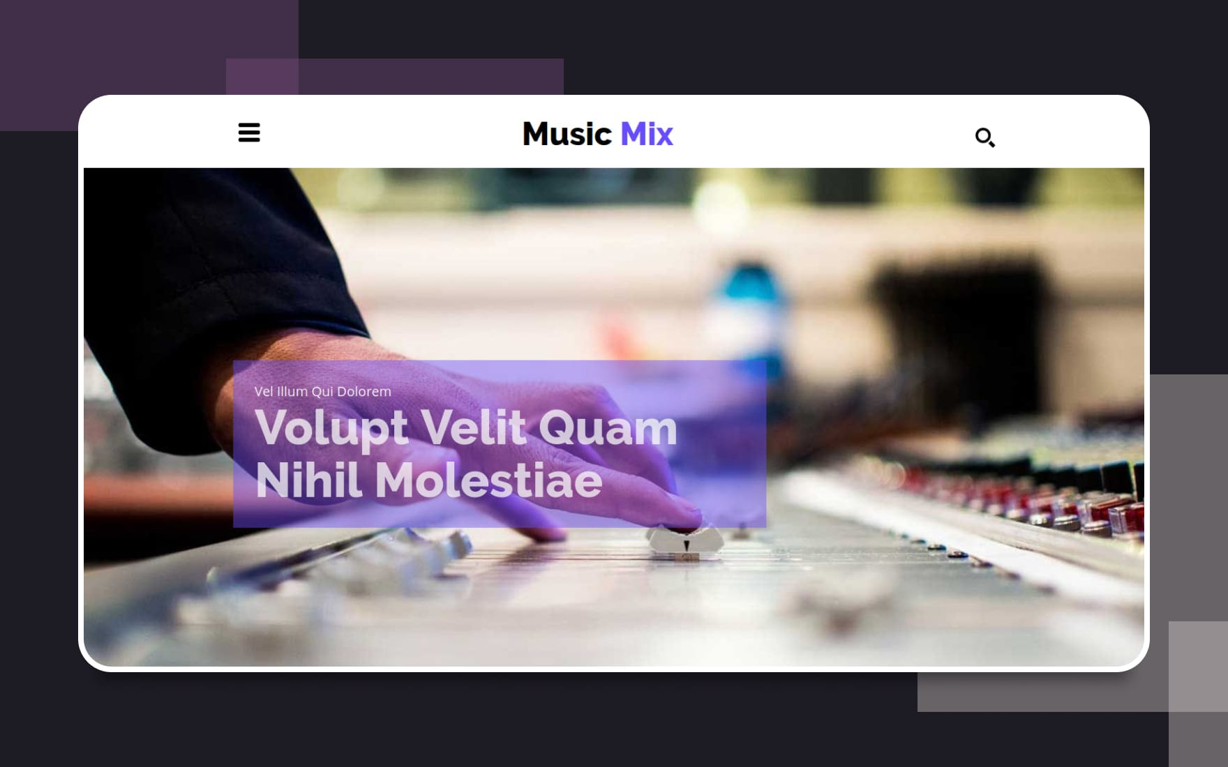 Music Mix a Entertainment Category Flat Bootstrap Responsive web template