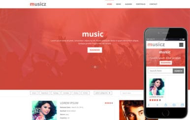 Musicz a Portal Multipurpose Flat Bootstrap Responsive web template