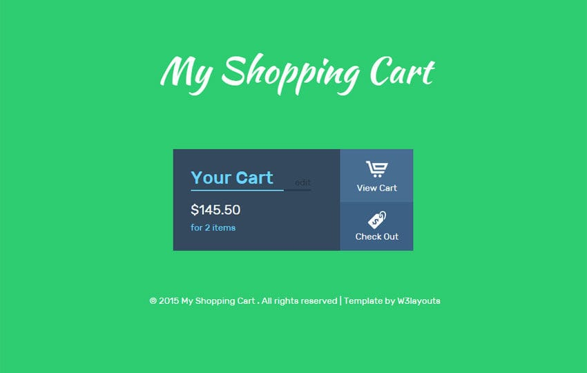 My Shopping Cart Responsive Widget Template
