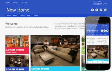 New Home a interior architects Mobile Website Template