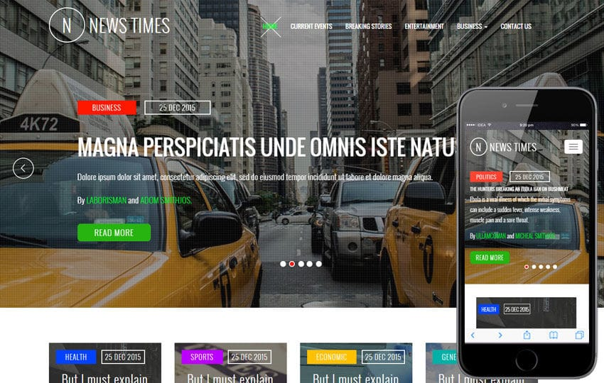 News Times a Entertainment Category Flat Bootstrap Responsive Web Template