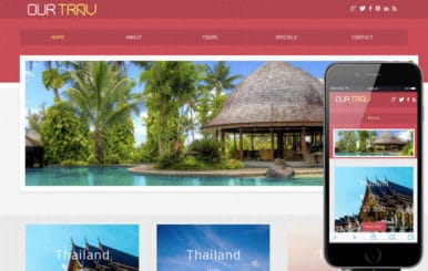 Our Trav a travel guide Mobile Website Template