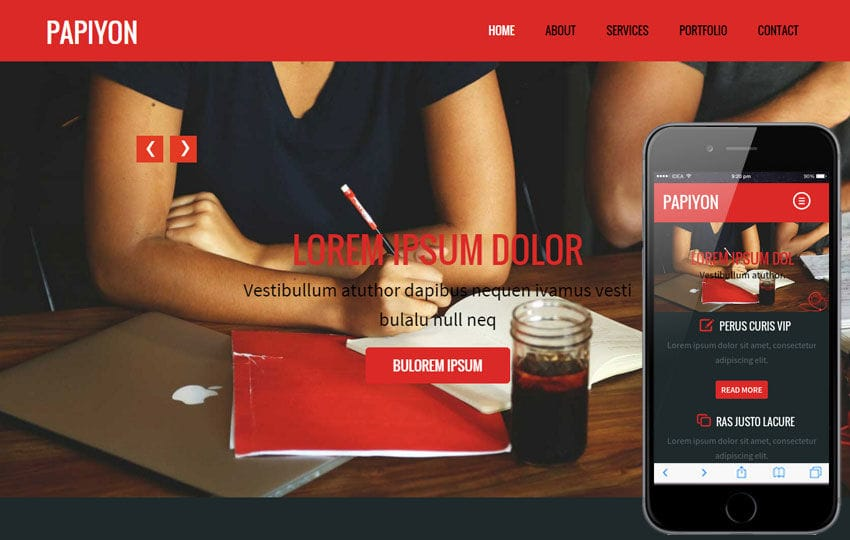 Papiyon a Corporate Portfolio Flat Bootstrap Responsive web template