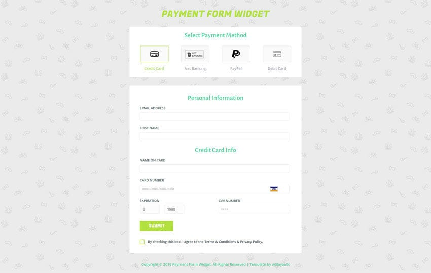 Payment Form Template – Responsive HTML Template
