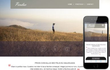 Peculiar a Personal Portfolios Flat Bootstrap Responsive Web Template