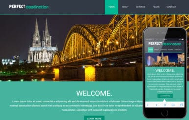 Perfect Destination a travel guide Mobile Website Template