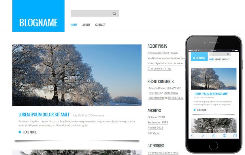 Personal Blog  a Blogging Category Flat Bootstrap Responsive Web Template