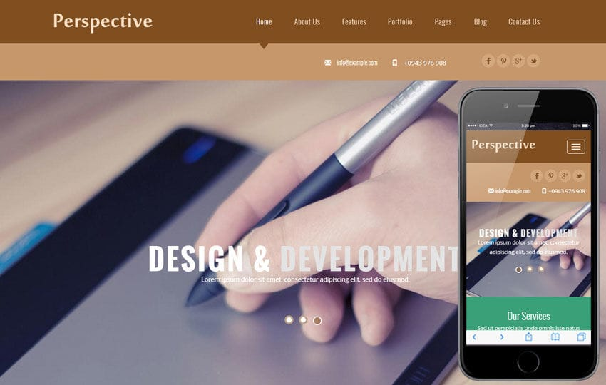 Perspective a Corporate Business Flat Bootstrap Responsive Web Template