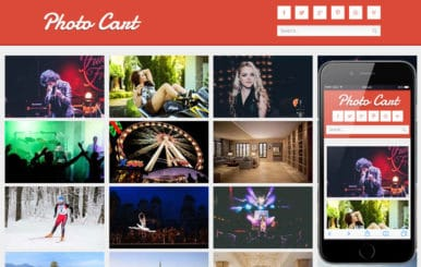 Photo Cart Photo Gallery Mobile Website Template