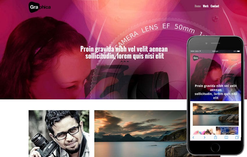 Photographica a Photographers Portfolio Flat Bootstrap Responsive Web Template