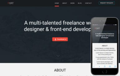 Port a Onepage Portfolio Flat Bootstrap Responsive Web Template