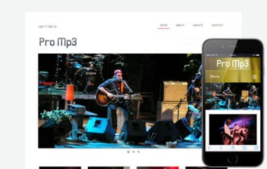 Promp3 online shopping music Mobile Website Template