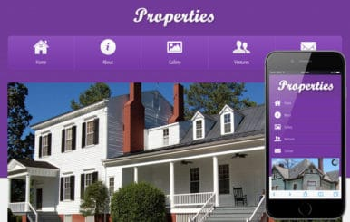 Properties a Real Estate Mobile Website Template
