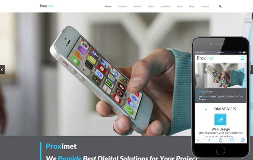 Proximet a Singlepage Multipurpose Flat Bootstrap Responsive web template