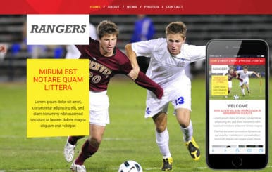 Rangers Sports Category Flat Bootstrap Responsive Web Template