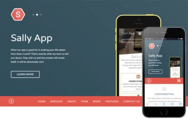 Sally Blocks a Mobile App based Flat Bootstrap Responsive Web Template