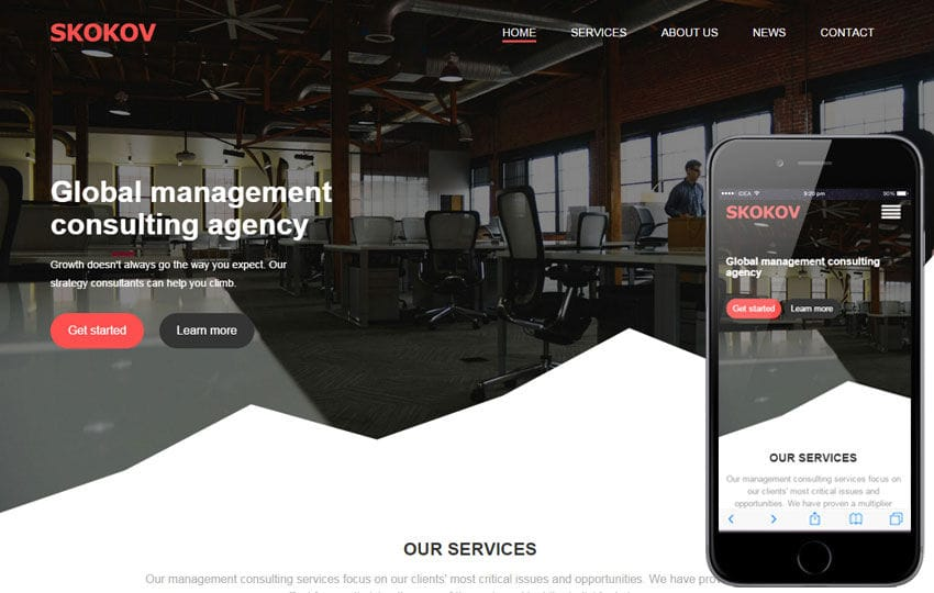 Skokov v2 a Corporate Multipurpose Bootstrap Responsive Web Template