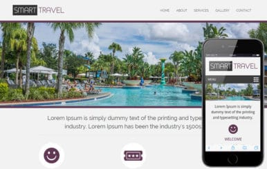 Smart Travel a travel guide Mobile Website Template