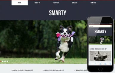 Smarty for animals and pets Mobile Website Template