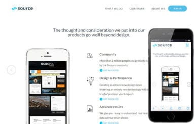 Source a landingpage Multipurpose Flat Bootstrap Responsive Web Template
