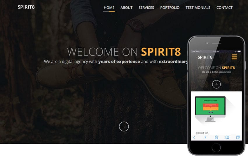 Spirit 8 a Corporate Multipurpose Flat Bootstrap Responsive web template