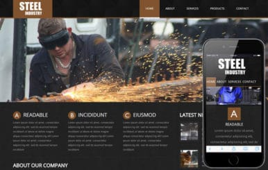 Steel- an Industrial Mobile Website Template