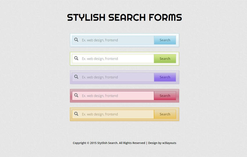 Stylish Search Forms Responsive Widget Template