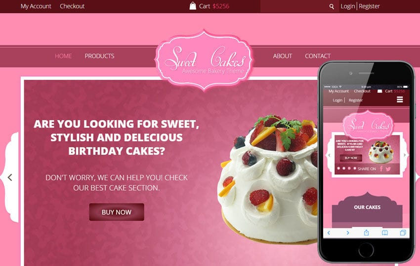 Sweet Cakes a Food Category Flat Bootstrap Responsive web template