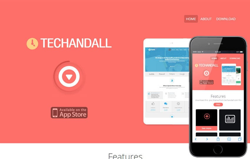 Techandall a Corporate Agency Flat Bootstrap Responsive Web Template