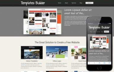 New Template Builder web template and mobile website template for free
