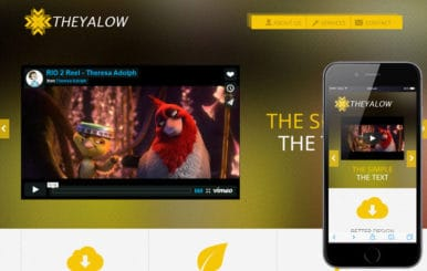 The Yalow a Entertainment Category Flat Bootstrap Responsive Web Template