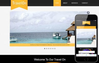Travel On a travel guide Mobile Website Template