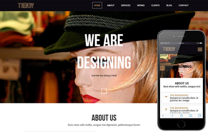 Trendy a onepage Multipurpose Flat Bootstrap Responsive web template