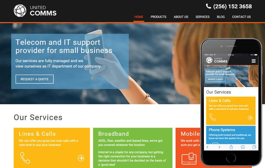 United Comms a Corporate Flat Bootstrap Responsive Web Template