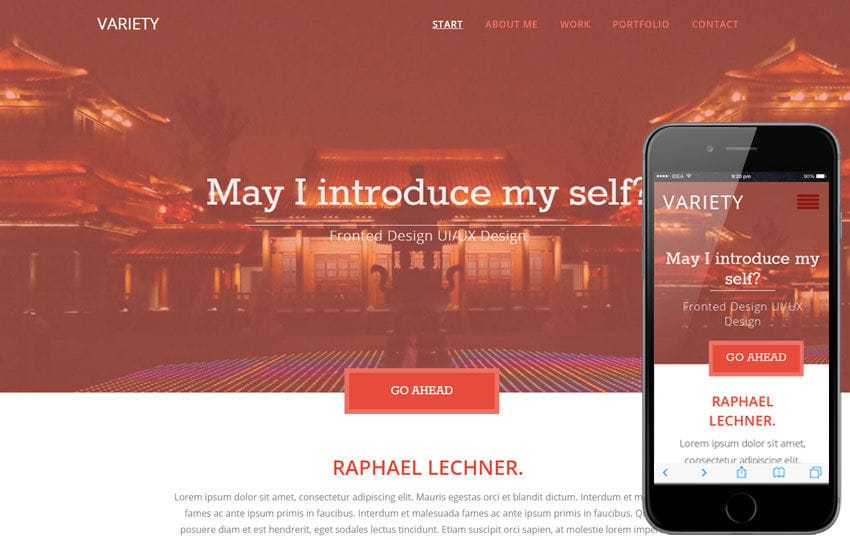 Variety a Flat Portfolio Bootstrap Responsive Web Template