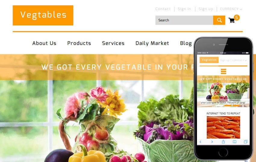 Vegtables a Agriculture Category Flat Bootstrap Responsive Web Template