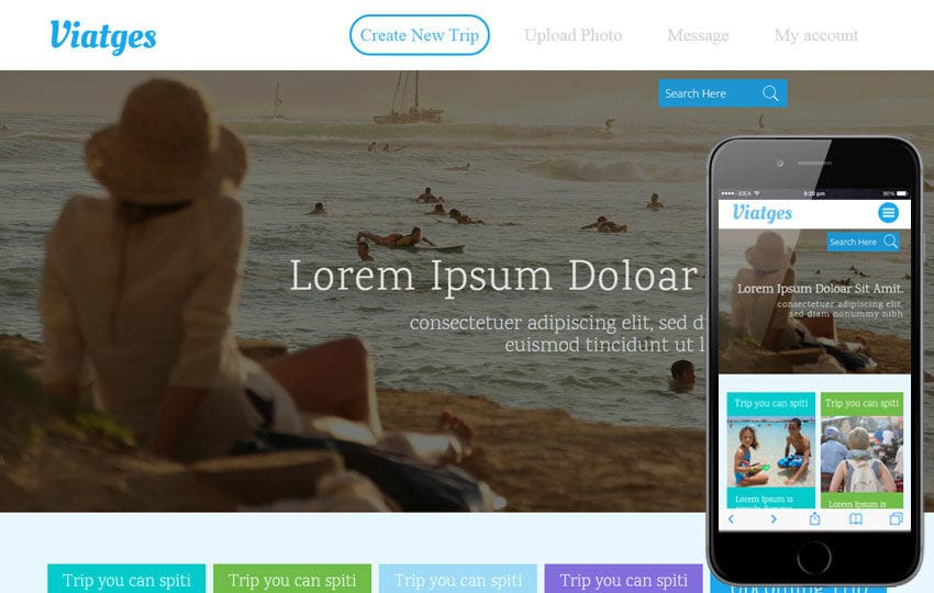Viatges a Travel Category Flat Bootstrap Responsive Web Template