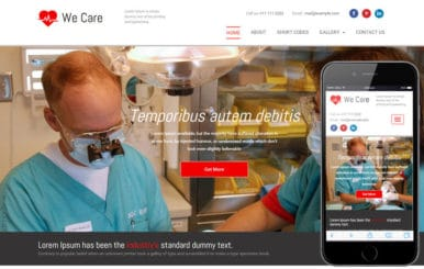 We Care a Medical Category Flat Bootstrap Responsive Web Template
