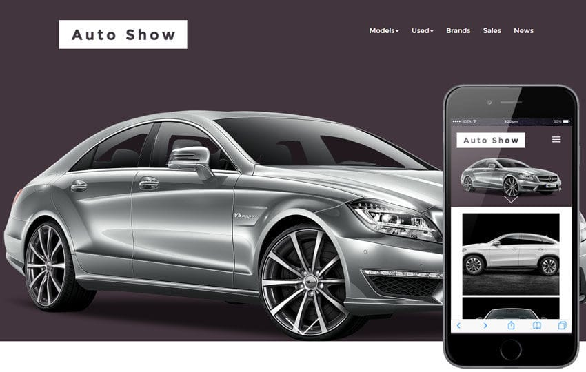 Auto Show a Automobile Category Responsive Web Template