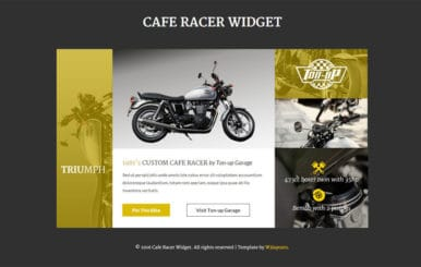 Cafe Racer Responsive Widget Template