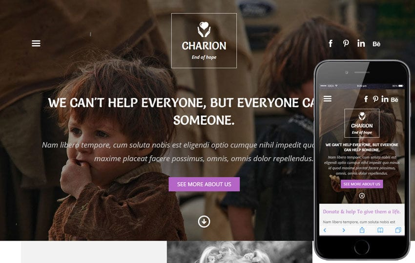 Charion a Charity Category Flat Bootstrap Responsive Web Template