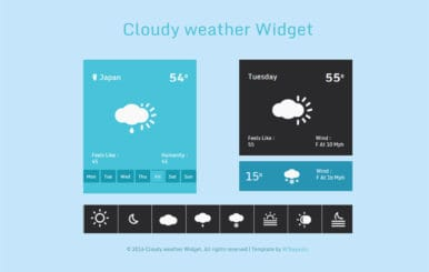 Cloudy weather Widget Responsive Template