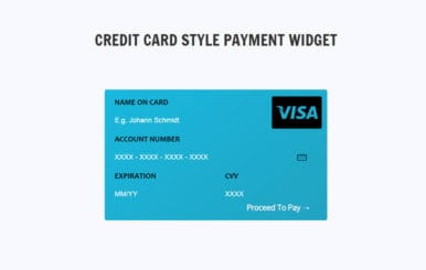 Credit Card Style Payment Widget Responsive Template