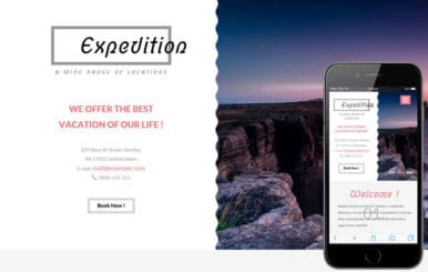 Expedition a Travel Guide Flat Bootstrap Responsive web template