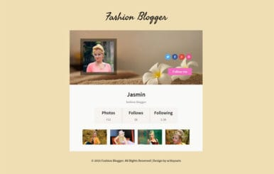Fashion Blogger Responsive Widget Template