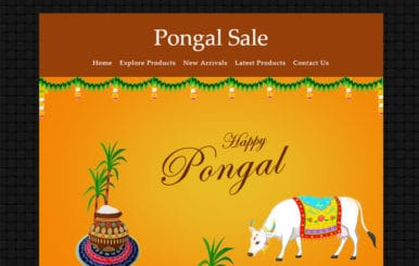 Pongal Sale a Newsletter Responsive Web Template