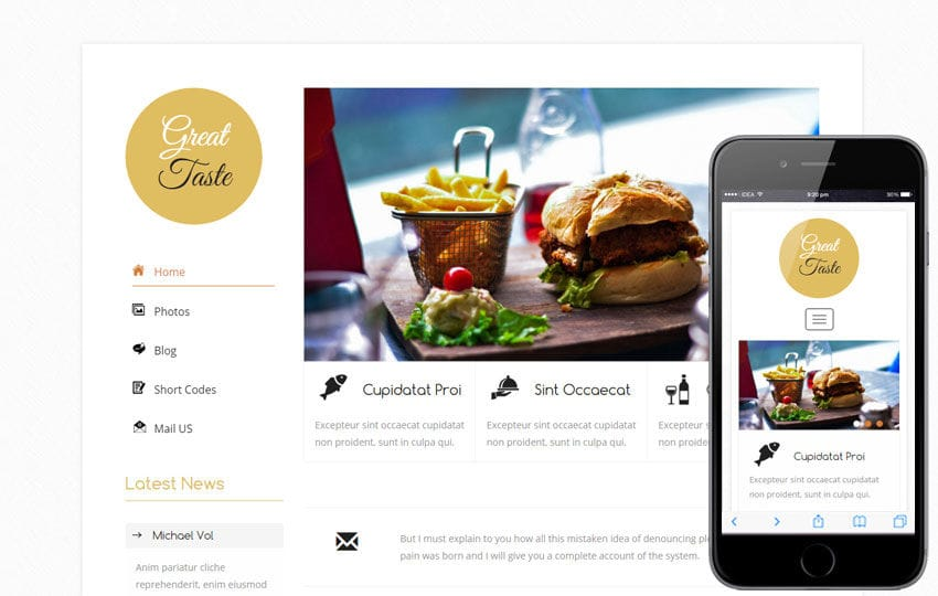 Great Taste a Hotel Category Flat Bootstrap Responsive Web Template