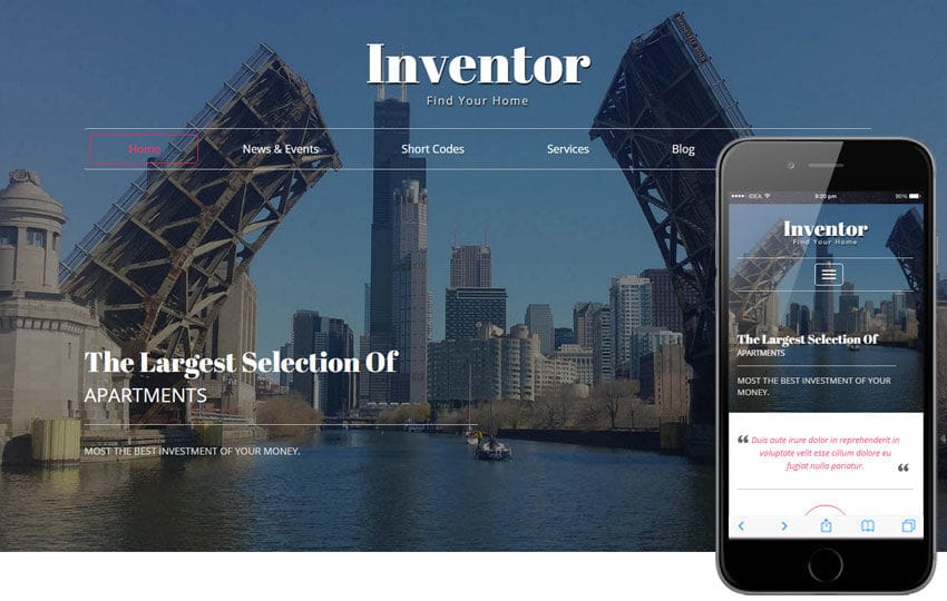 Inventor a Real Estate Category Flat Bootstrap Responsive Web Template